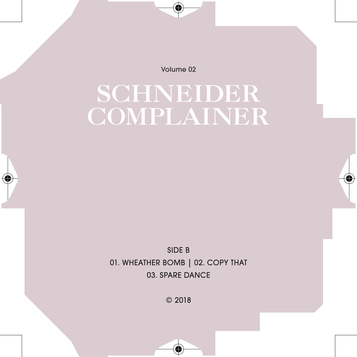 soheyl nassary SCHNEIDER COMPLAINER // NO. 02